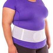 "BraceAbility Plus Size Hernia Belt | Stomach Support Binder Band for Abdominal, Umbilical, Belly Button, Ventral, Epigastric & Incisional Hernias - L (Original) Fits 49""-60"""