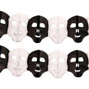 Bellatio Decorations 2x Papieren Halloween doodshoofd slingers 6 meter