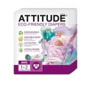Scutece ecologice de unica folosinta marime 1-2 (3-7kg) ATTITUDE Eco-friendly 36 buc.