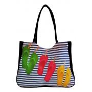 Flops textilní taška na pláž černá