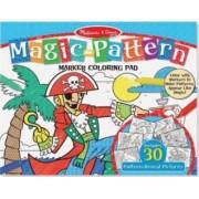 Bloc de colorat modele magice Albastru - Melissa and Doug