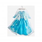 Vestido de princesa ELSA FROZEN Azul y Blanco-CNVDE