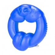 Oxballs Scrappy Puppy Silicone Cock Ring Blue EOXB-5362