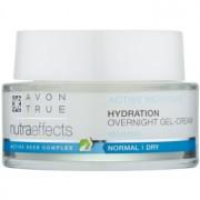 Avon True NutraEffects crema multi-correctora de noche para hidratar y alisar la piel textura gel 50 ml