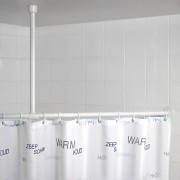 WENKO Držák pro zavěšení tyče na sprchový závěs, Ø 2,5 cm, 57 cm, chrom, WENKO