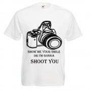 "Tricou mesaj funny imprimeu DTG""SHOOT YOU"""