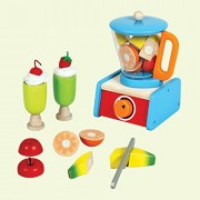 Blender Set with Fruits - Wooden Toys - Brainsmith - Early Learning - Pretend Play - Imagination - Role Play toys - Story telling Activity - Creativity building - Kitchen Set - Birthday gift - Return Favour - Play and Learn - Child safe toys - 3 years and