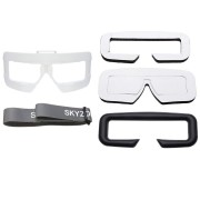 Skyzone SKY03 Goggles Faceplate PU Sponge Eye Patch Pad Head Band Set Combo Black/White/Red
