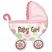 Balon folie carut BABY GIRL