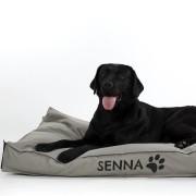 YourSurprise Hondenkussen met naam - 50 x 75 cm - Taupe