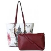 Kleio Printed Bag in Bag Satchel Red Shoulder Bag