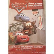 POSTER PERETE interior/exterior SET 2 buc - CARS - HAPPY BIRTHDAY