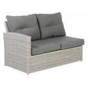 Tierra Outdoor Fredo lounge tweezitter rechts + links weahtered grey 82 x 133 x 82 cm
