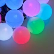Luci Da Esterno Catena decorata 10 m, 10 Sfere con 7 LED Party Light Multicolor, prolungabile