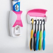 Battlestar 2 in 1 AUTOMATIC TOOTHPASTE DisPENSER (White) -- FREE TOOTH BRUSH HOLDER SET (holds 5 tooth brushes) CodeBDis-Dis529