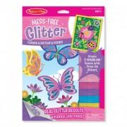 Melissa & Doug Kreatív játék, Glitter képkészítő, pillangó és virág