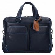 Piquadro Blue Square Special Serviette cuir 39 cm compartiment Laptop