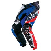 Oneal O´Neal Element Shocker Pantalones de Motocross Negro Rojo Azul 30