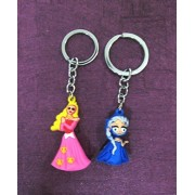 Art box 2 Beautiful FROJAEN and GIRL PRINCI type key chain for all age group ( 2 counts)
