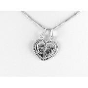 Always Together - Két arcos kettépattintható ezüst szív medál