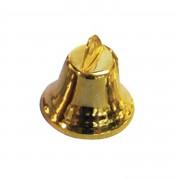 Rayher hobby materialen 20x Gouden metalen hobby klokjes 16 mm