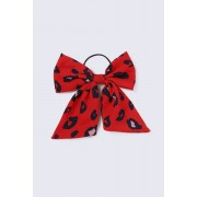 ''Gina Tricot'' ''Red Leopard Bow Hairband '' ''Red multi'' ''one size''