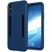 GSMWise - Apple iPhone X - Zachte TPU Back Case met Sport Armband - Blauw