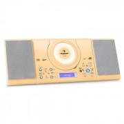 Auna MC-120 Equipo estéreo MP3 USB CD FM/AM Montaje de pared Crema