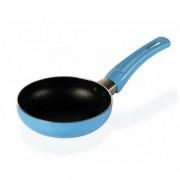 Tigaie 12 cm, aluminiu cu acoperire teflon Heinner Mini, Albastra