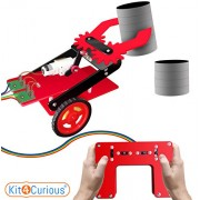 Kit4Curious Remote Controlled Pick and Place Robot Complete kit II pre-Assembled Pick Place Remote Robotic Project kit