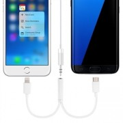 Ljudadapter 3.5mm till iPhone 7 & Typ-C USB Port