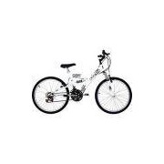 Bicicleta Polimet Kanguru Aro 24 18 Marchas Full Suspension - Branca