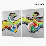 Készlet 2 Olajfestménnyel (120 x 3 x 150 cm) by Homania