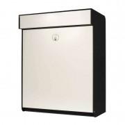 White designer letterbox Grundform