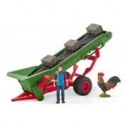 Set figurine Schleich Banda transportatoare pentru fan cu fermier