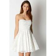 Cipkana haljina sa srce izrezom u vise boja