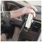 Suport telefon premium BigBuy Car, aluminiu, prindere si desprindere automata