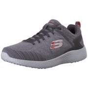 Skechers Men's Burst - Deal Closer Charcoal and Red Sneakers - 10 UK/India (45 EU) (11 US)