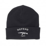 Defend Paris Mössa Paris Black Beanie - Defend Paris - Svart Uppvikt