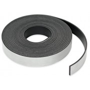 Dabit Quality Magnetic Tape   Magnetic Strip on 1 Side, Self-Adhesive on the Other   Ideal for Crafting Fridge Magnets, Flexible Magnets for DIY Projects & Dry Erase Boards