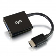 C2G 80503 0.2m Mini-HDMI VGA (D-Sub) Black video cable adapter