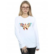 Absolute Cult DC Comics Femmes-apos;s Wonder Woman 84 Symbol Crossed Arms Sweatshirt Blanc XX-Large