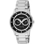 Citizen Eco-Drive Analog Black Dial Mens Watch - BU4000-50E