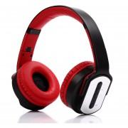 Audífonos Gamer, MH2 Gaming Audifonos Bluetooth Manos Libres Inalámbrico Auriculares Twist-out Altavoz 2 En 1 Auricular Tarjeta NFC TF Aux-in Manos Libres Para Teléfono (Rojo)
