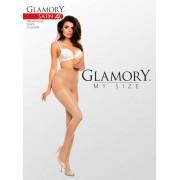 Semi-heltäckande glansig plus size strumpbyxa Satin 40 DEN från Glamory black 2XL