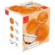 Set masa 19 piese sticla Bormioli Aquamarina portocaliu