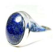 YogiGems 3.25 Ratti Certified Natural Lapis Lazuli Sterling Silver Bold Ring