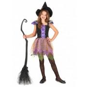 Vegaoo Buntes Hexe-Kostüm für Mädchen