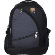 Marimco High Quality Tough Polyster 34L Casual School/college/Laptop/Travel 34 L Backpack(Black, Grey)