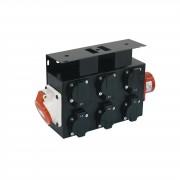 EuroLite SB-652X CEE Distribuidor de potencia 16A CEE IN/OUT auf 6 x Schuko